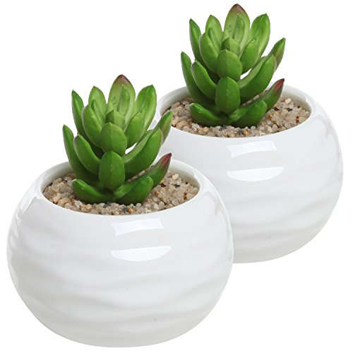 set-of-2-small-round-white-ceramic-textured-succulent-plant-pots-decorative-herb-container-planters-