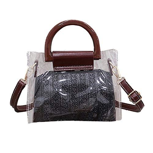 - TOTOD Crossbody Bag, 2019 INS Hot Sale Women Transparent Woven Bucket Handbags Diagonal Cross Totes