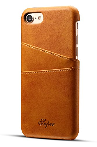Iphone 7 Wallet Phone Case | Ultra-Slim Leather Credit Card Holder | iphone 7 case for men | iphone 7 plus case for women | Apple iphone 7 plus case, Khaki