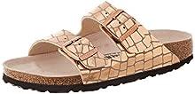 Birkenstock Sandales Arizona Microfibre Gator Gleam Copper, Sandalia para Mujer, 40 EU Étroit