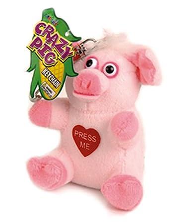 Amazon.com: Sólo para Laughs Crazy animales llavero cerdo ...