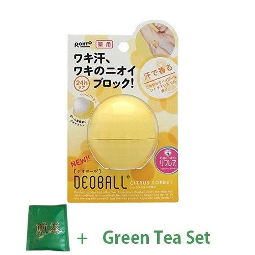 Rohto Deodorant Deo Ball 15g - Citrus Sorbet (Green Tea Set) ()