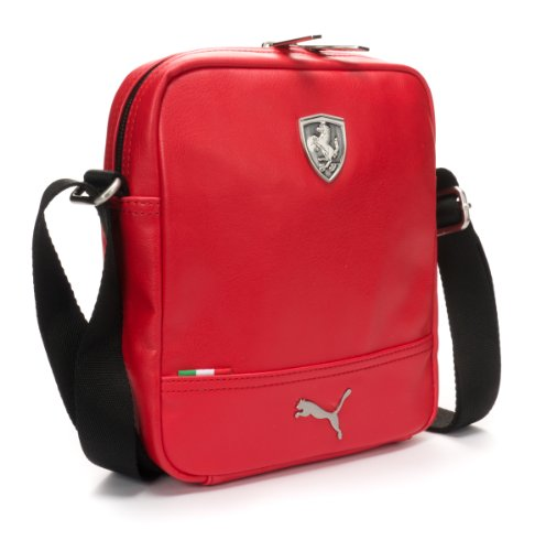 LS 07224302 PUMA Ferrari-Borsa Messenger, colore: Rosso