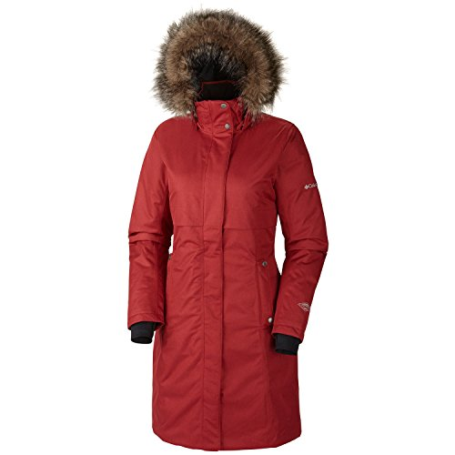 UPC 887253241936, Columbia Wome's Apres Arson Long Down Jacket, Red (X-Small)