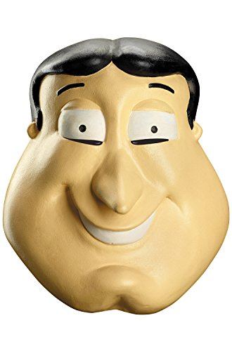 Disguise Men's Quagmire Deluxe Costume Mask, Multi, One