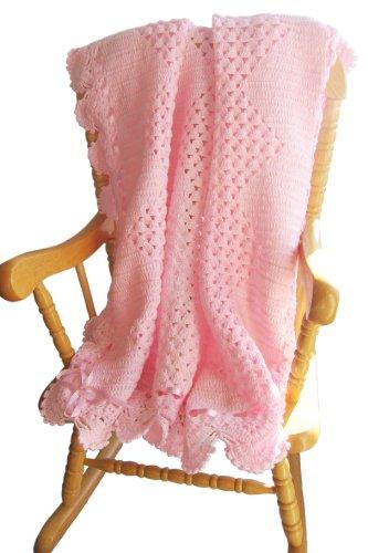 Handmade Crocheted Masterpiece Baby Blanket - Acrylic Pink (CUSTOM MADE ORDER)