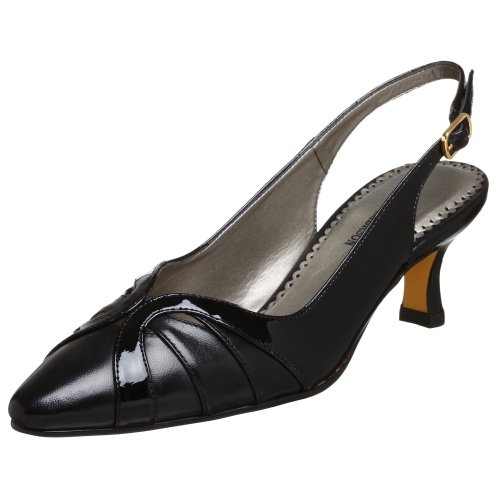 Ros Hommerson Women Saffia Sling Dress Pump Black Kid/Patent