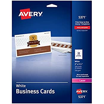 amazoncom avery clean edge business cards for inkjet