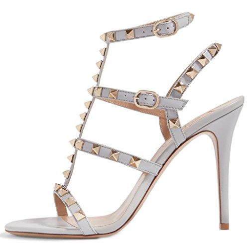 00520be231a7d2 Sandales À Talons Confortables Pour Les Femmes, Chaussures De Gladiateur À  Lanières Lacets Talons Aiguilles