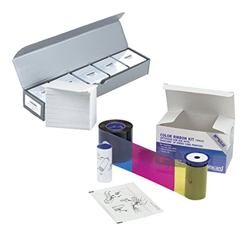 Datacard 534000-003 YMCKT Color Ribbon & Cleaning Kit + 500 PVC Cards
