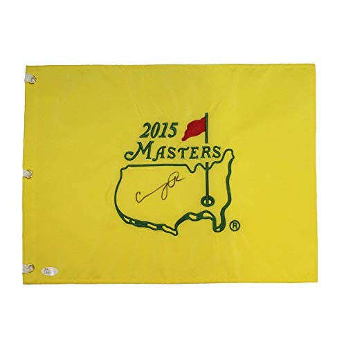 Condoleezza Rice Autographed Signed 2015 Masters Pin Flag - JSA Certified Authentic (Golf Autographed Pin Masters Flag)