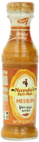 Nando's Medium Peri Peri Sauce, 4.7 Ounce (Pack of 4) (Nando Sauce)