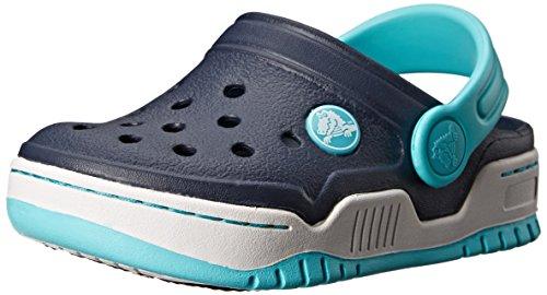 crocs Front Court Kids Clog (Toddler/Little Kid),Navy/Pool,2 M US Little Kid