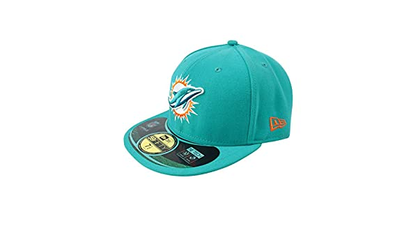Amazon.com  New Era 59Fifty NFL Miami Dolphins Home Cap Turquiose  Clothing 304547702