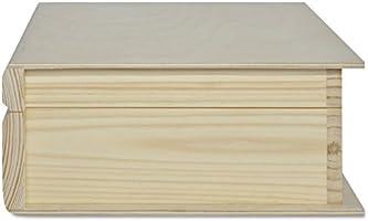 Creative Deco Grande Caja Libro Madera para Decorar | 24 x 19 x 7,5 cm | con Tapa | Decoracion Almacenaje Herramientas Fruta Decoupage Documentos Objetos de Valor Juguetes: Amazon.es: Hogar