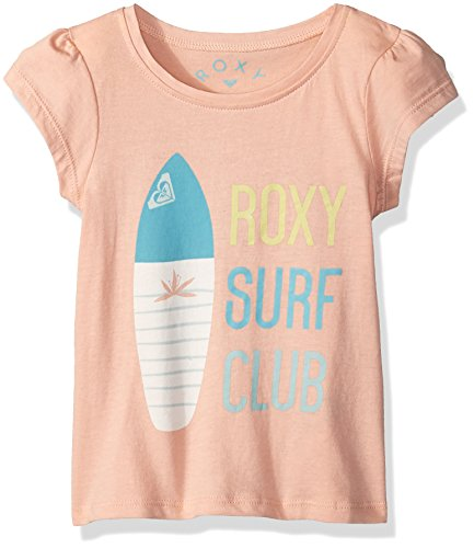 (Roxy Girls' Toddler Moid T-Shirt, Tropical Peach, 3)