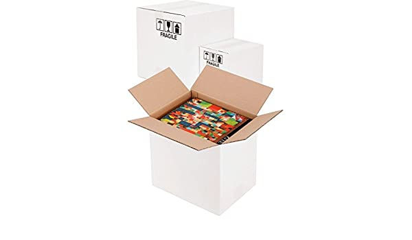 Propac z-boxw303015 caja cartón, dos Olas, blanco, 30 x 30 x 15 cm ...