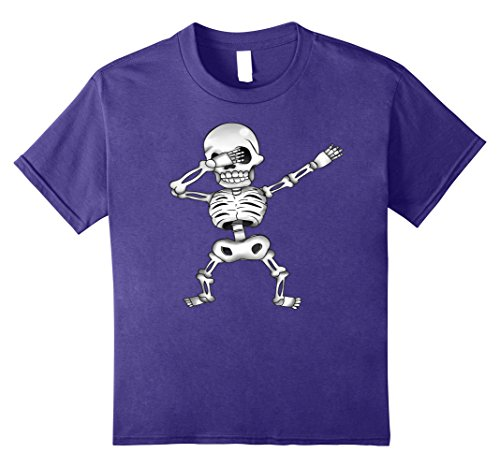 Kids Creepy Dabbing White Skeleton Funny Halloween Costume tshirt 10 (Medical Halloween Costume Ideas)