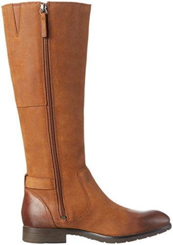 Sebago Damen Nashoba High Boot WP Langschaft Stiefel Braun (Brown Leather WP)