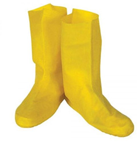 TheSafetyHouse Disposable Yellow Latex Booties Size 2XL - 50 Pairs Per Case