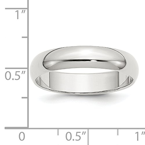 Solid 925 Sterling Silver 5mm Wedding Band Ring