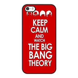 Generic Fashion Hard Back Case Cover Fit for iPhone 5 5S Cell Phone Case black The Big Bang Theory with Free Tempered Glass Screen Protector SEU-4115652