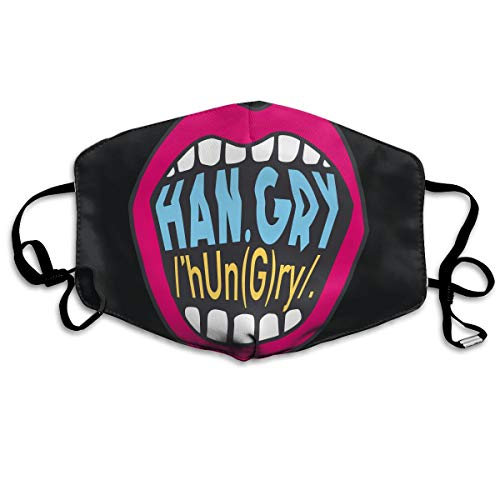 Summer Han.Gry Print Celebrity Ages Mouth Mask Unisex Printed Fashion Face Mask Anti-dust Masks ()