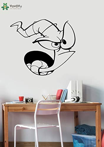Clearviewdecor Cartoon Earthworm Wall Decal Jim Comic Vinyl Wall Stickers for Kids Rooms Baby Bedroom Art Decoration Gift Game Home Decor SY462 ()