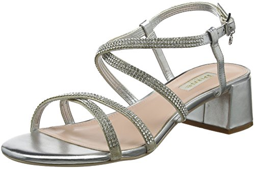 Dune Women's Masiey Ankle Strap Sandals Silver (Silver-leather) nSo6bogP