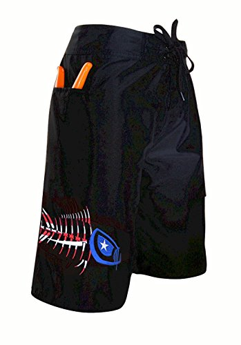 Tormenter Men's 5-Pocket Waterman Fishing Board Shorts (Patriot, 36)