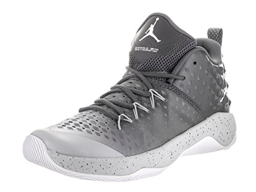 Jordan Nike Men's Extra Fly Dark Grey/White/Wolf Grey Basketball Shoe 12 Men US by Jordan