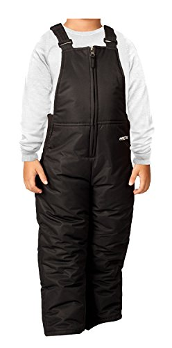 Arctix Infant-Toddler Chest High Snow Bib Overalls, Black, 4T