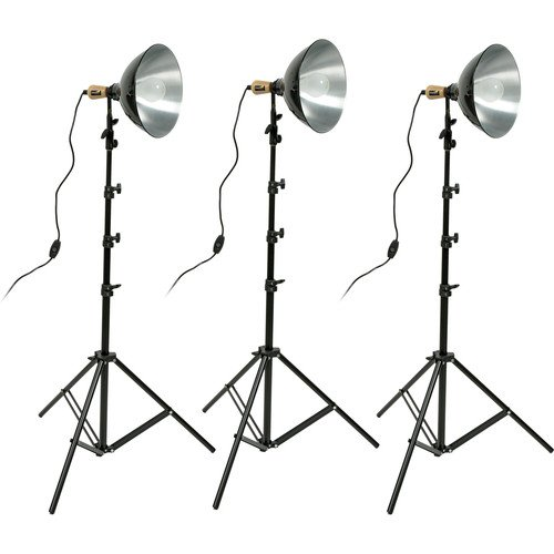 (Impact Tungsten Three-Floodlight Kit with 8' Stands(2 Pack))