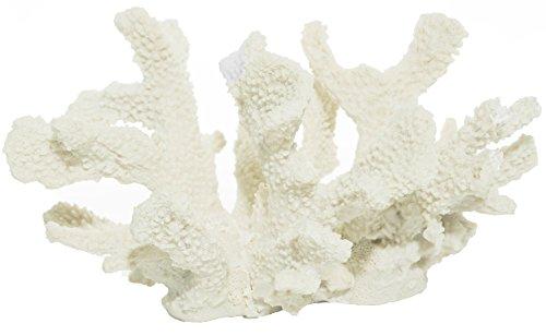 Nautical Crush Trading White Resin Coral | Cat's Paw Coral White 8'' TM by Nautical Crush Trading