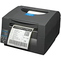 Citizen America CL-S521-EC-GRY CL-S521 Series Direct Thermal Barcode and Label Printer with Ethernet Connection, Cutter, Front Exit, 4 Maximum Print Width, 203 DPI Resolution, Gray