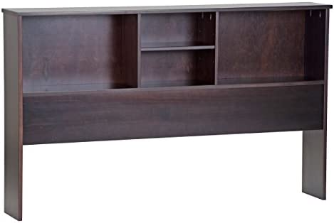 Palace Imports 100 Solid Wood Kansas Full Bookcase Headboard, Java Color, 36 H x 59.5 W x 9 D, 1 Shelf Included. Full Mate s Bed Sold Separately. Requires Assembly