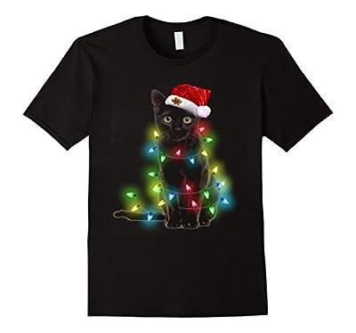 Cat lover led christmas tshirt funny