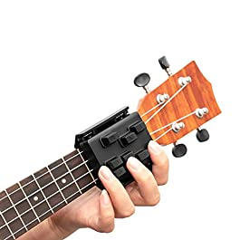 Chord buddy for Ukulele,Chord Assisted Learning Tools Aid for Ukulele Beginners With Seven Universal Chords(Black)