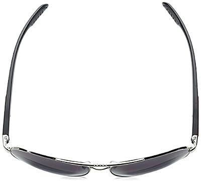 Prada Sport PS53PS 1BC5W1 Grey Steel Benbow Aviator Sunglasses Polarised Lens C