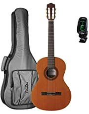 Cordoba Cadete 3/4 Size Nylon String Classical Guitar with Cordoba 3/4 Size Deluxe Gig Bag and Tuner