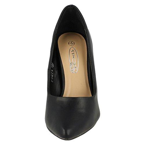 Spot On Ladies High Heel Shoes Black OpnvtfhqV