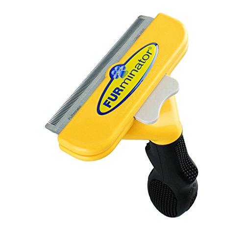 "FURminator LONG HAIR deShedding Brush for LARGE DOGS 51-90 Lbs 4"" Inch Edge Blade Tool Comb"