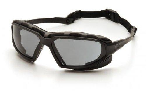 Pyramex SBG5020DT Highlander XP Safety Glasses Blk Gry Anti-