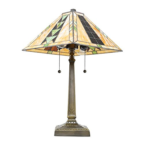 Cheap Tiffany Style Mission Table Lamp