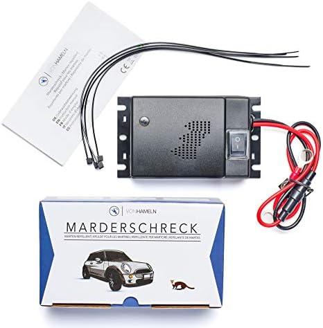 Von Hameln Marderschreck Auto 1 StÜck Effektive Marderabwehr Auto Mit Ultraschall Sofortiger Langfristiger Marderschutz Im Motorraum Auto