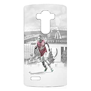 Arsenal FC 3D Alex Oxlade Football Player Hard Plastic Gray Case for LG G4 Cell Phone