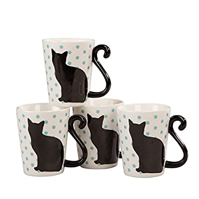 Cat Fan related Products Cat Tail 10 Ounce Coffee and Tea Mugs by Home Style Kitchen,... [tag]