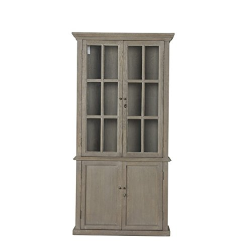 Flamant Venezia Hutch, Gray Washed Oak by Flamant