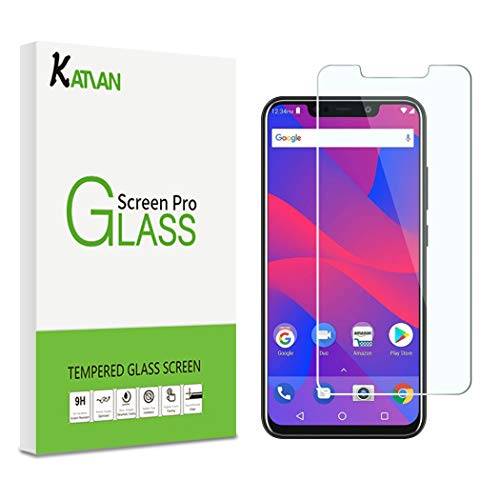 [2Pack]KATIAN for BLU Vivo XL4/Ulefone Armor X3 2019 Screen Protector, HD Clear Protector [Anti-Scratch] [No-Bubble] [Case-Friendly], 9H Hardness Tempered Glass Screen Film for Ulefone Armor X3 2019