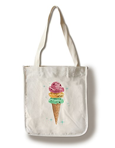 Lantern Press Retro Ice Cream Cone (100% Cotton Tote Bag ...